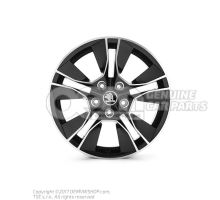 Aluminium rim high chrome/black 5L0071497A JX2