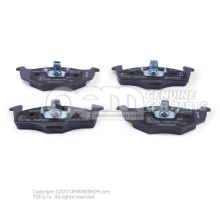 1 set of brake pads with wear display for disc brakes 1 set of brake pads for disk brake JZW698151E