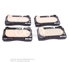 1 set: brake pads with wear indicator for disc brake 1 set of brake pads for disk brake 8J0698151K
