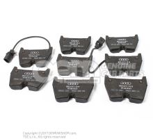 1 set of brake pads for disk brake 8E0698151Q