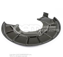 Cover plate for brake disc left 1K0615311F