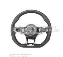Genuine Audi Sline steering wheel with flat bottom with airbag
