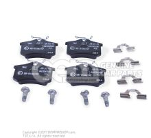 1 set of brake pads for disk brake JZW698451A