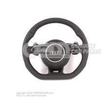 Genuine Audi steering wheel with flat bottom