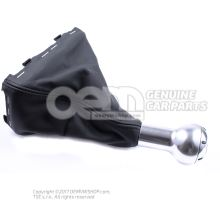 Gearstick knob (alu) with gearstick trim (leather) soul (black) 8E0863278DQSKH