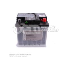 Battery with charge state indicator, filled and charged 000915105DB