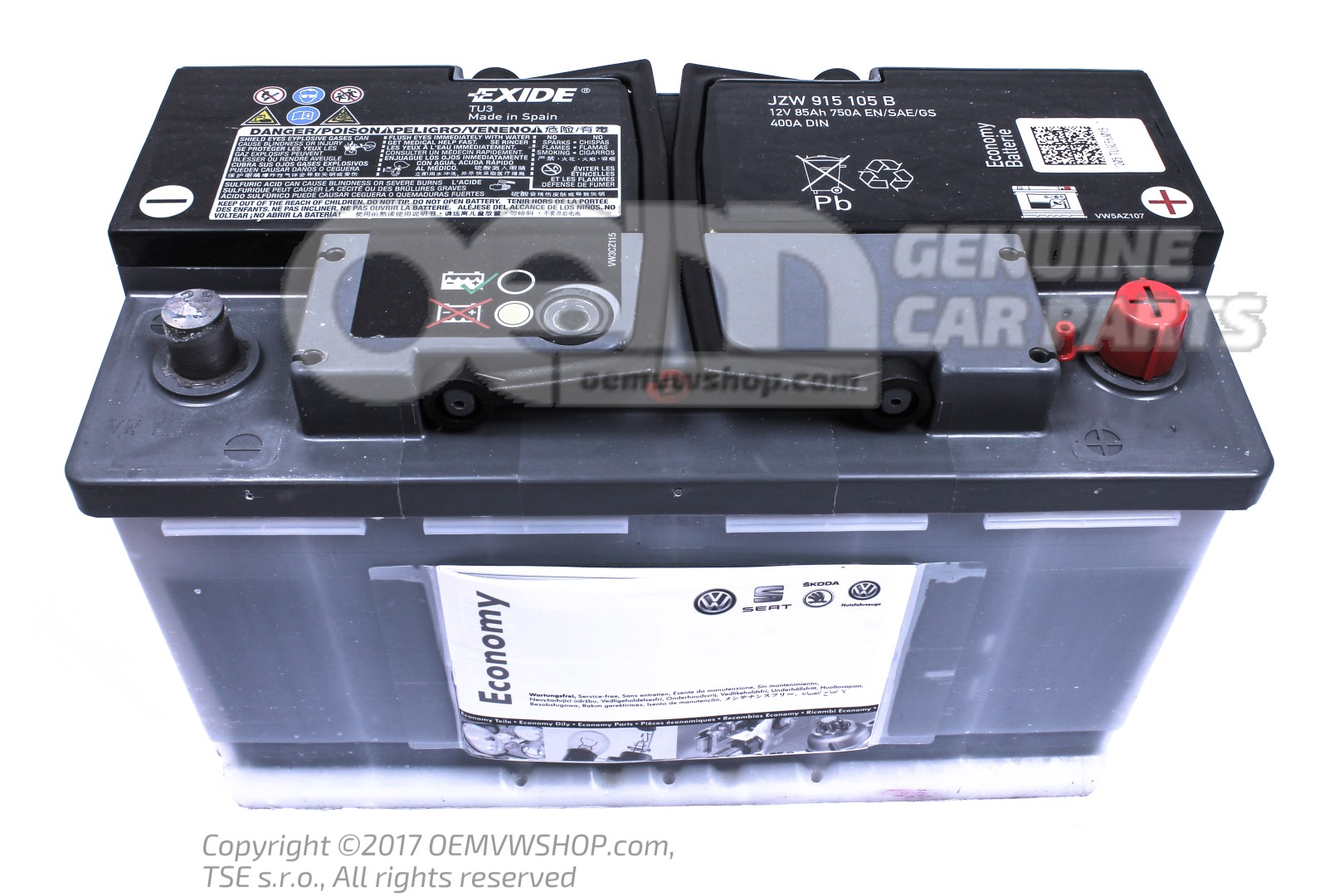 Battery With State Of Charge Display Full And Charged Jzw915105b Oemvwshop Com