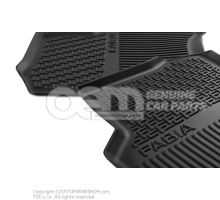 1 set foot mats (rubber) 6V0061551