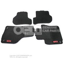 1 set foot mats (rubber) black inscription