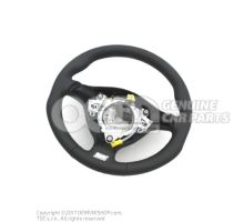 Sports steering wheel(leather) for models with airbag black/crystal grey 1J0419091DLQHS