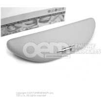Spectacles holder for vehicles with glass sliding and tilting sunroof and curtain aibag pearl grey 3B0857465A Y20