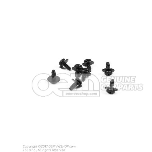 Oval head panel screw (combi) N 90919701