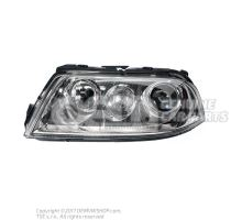 Halogen twin headlights for gas discharge bulb 3B7941017M