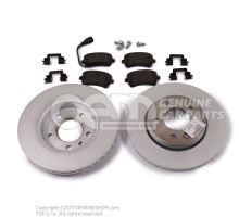 1 set brake discs and brake pads with wear display JZW698601AK