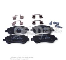 1 set of brake pads for disk brake 2H0698151A