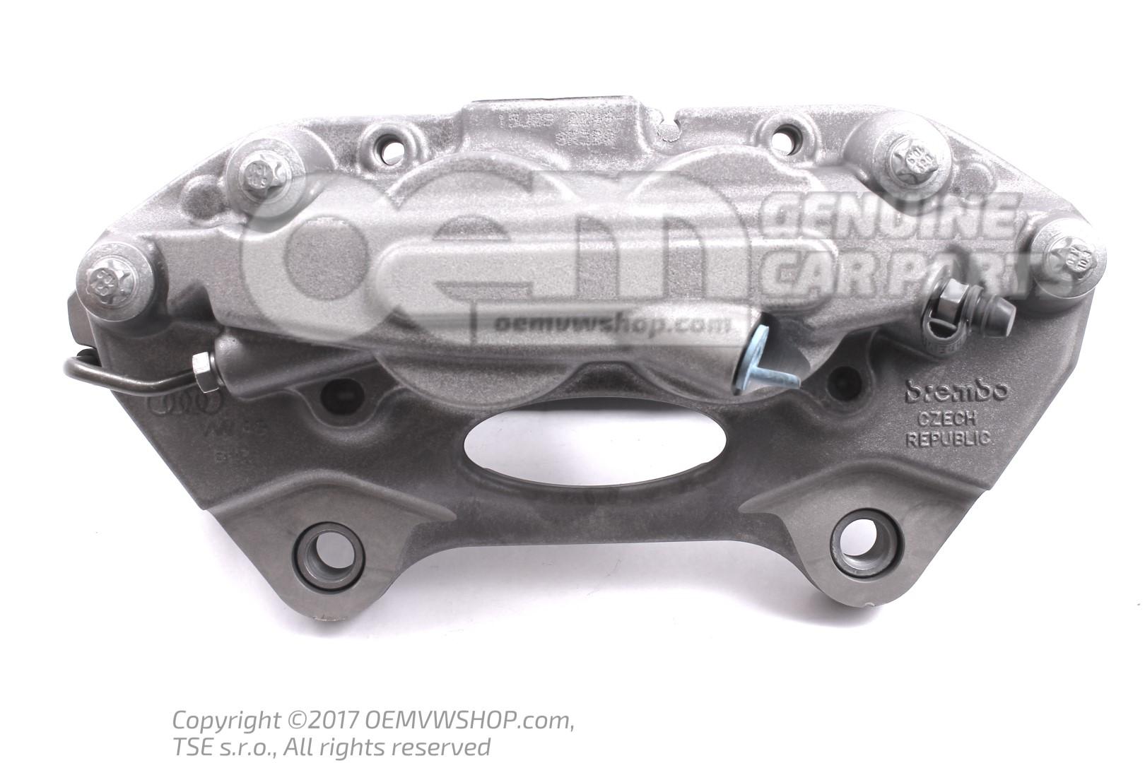 Caliper without brake pads 8R0615107G | oemVWshop.com