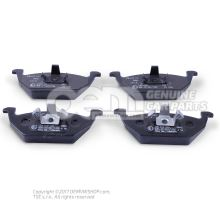 1 set of brake pads with wear display for disc brakes 1 set of brake pads for disk brake JZW698151A