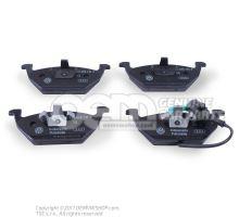1 set: brake pads with wear indicator for disc brake 1K0698151F
