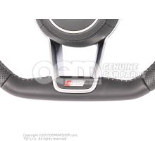 Original Audi Sline steering wheel with flat bottom and airbag