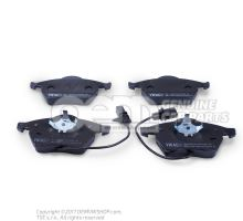 1 set of brake pads with wear display for disc brakes JZW698151N