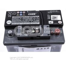Battery with state of charge display, full and charged JZW915105
